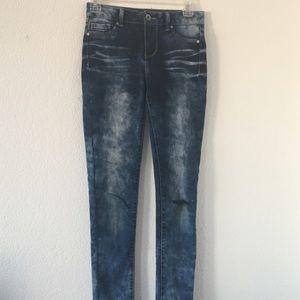 High Waisted Acid Wash Blue Spice Skinny Jeans